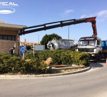 Limpieza en estación de bombeo del CC Bahía Sur (Cádiz)