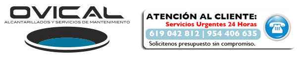 Ovical. Desatascos en Sevilla, limpieza alcantarillado, arquetas, fosas sépticas, gestión de residuos y control de plagas.