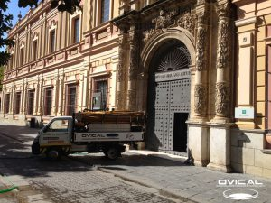 Trabajos mantenimiento de la red de saneamiento Museo de Bellas Artes de Sevilla