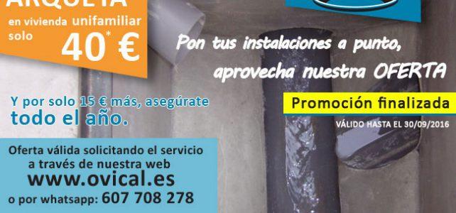 Oferta limpieza de arquetas por solo 40 €