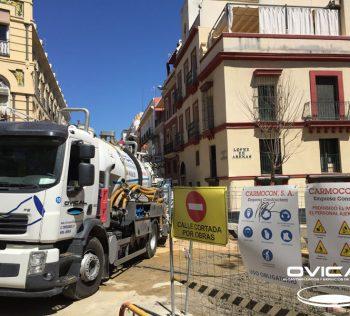 limpieza de colector C/ Lopez de Arenas