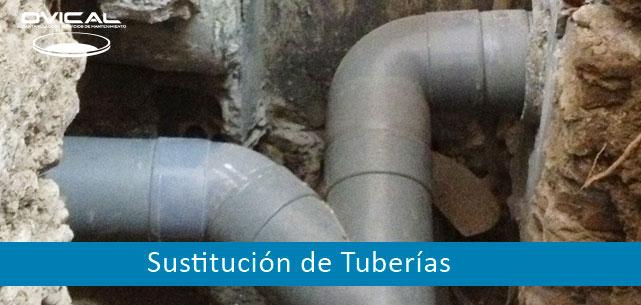 sustitución de tuberías