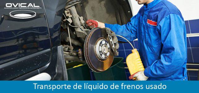 Transporte de líquido de frenos usado